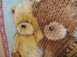 Finished - Cute chenilled quilt for DGD & Closeup showing chenille effect. Adamdwight.com