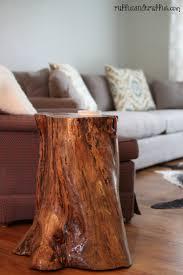 amazing diy tree stump table sawdust