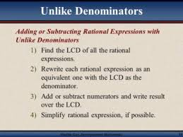 adding subtracting rational expressions like math review of adding rational expressions with unlike