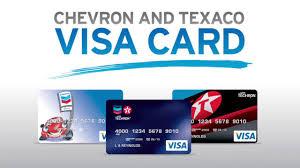 chevron texaco credit card visa blue and red card