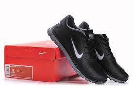 black white leather nike men running shoes free 4 0 v3