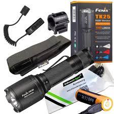Fenix Weapon Light Amazon Com Edisonbright Fenix Tk25 R B 1000 Lumens White