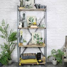 industrial style shelving. Tall Industrial Style Metal Shelving Unit -