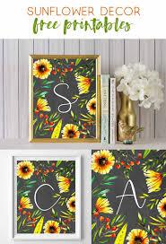 sunflower art free printables summer art wall art ideas art flower