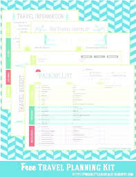 Vacation Coverage Plan Template Travel Planner Template Free Itinerary Vacation Planner Template
