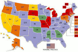 map of state policy from the davidson insute