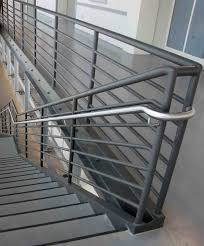 Metal handrails for stairs Wall Mounted Stainless Steel Hand Rails With Seven Line Steel Guard Rail Youtube Create Unique Metal Handrailings With Pinnacle Pinnacle Metal Products