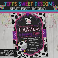 moo invitations wonderful of cow print birthday invitations my pinterest
