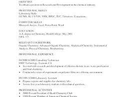 Food Lab Technician Cv Free Entrylevel Lab Technician Resume