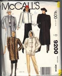 mccall s 9200 faux fur coat pattern uncut