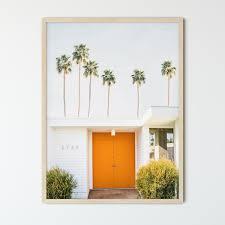 palm springs framed wall art burnt