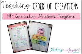 Order Of Operations Anchor Chart Teaching Order Of Operations Free Inb Template Teaching
