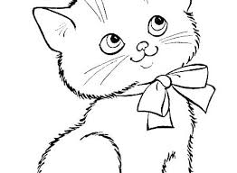 Cute Kitten Coloring Pages Printable Stunning Idea Cute Kitten