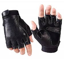 2019 mens fingerless faux leather driving gloves the palm with pad half finger porous cycling motorcycle fitness outdoor sport gloves from newcollection