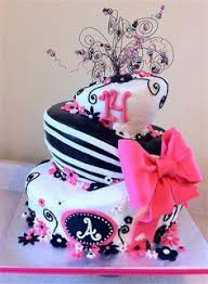 cake boss birthday cakes for teen girls. Plain Birthday Black And Pink Topsy Turvy Cake For Boss Birthday Cakes Teen Girls 0