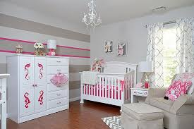 ... Gray And White Nursery With A Hint Of Pink [Design: KJ Design Works]