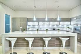 contemporary kitchen with large white island