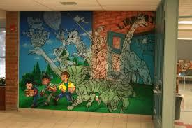 st angela mirici es library wall jpg