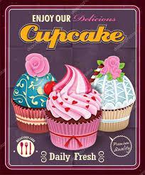 Cupcake Poster Design Vintage Cupcake Poster Design Stock Vector Donnay 52106741