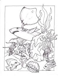 Ocean Coloring Pages Sand Water Theme Ocean Coloring Pages