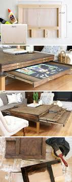 Wooden Board Games Plans How to Build a DIY Coffee Table with Pullouts for Board Games 82