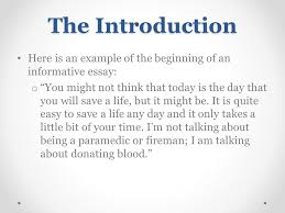 Informative Essays Examples Introduction Examples For Informative Essays For Middle School