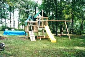 landscaping pole playhouse outdoor fort building kit decorating styles defined free plans