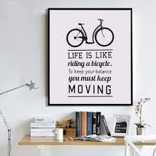 Phoenix Rakuten Bicycle Inspirational Quote Canvas Painting Home
