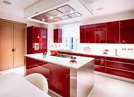 view in gallery red glossy kitchen cabinets