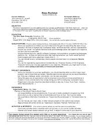Resume Without Experience Objectives For Resume Samples Mind
