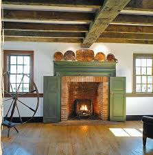 shutters to enclose a fireplace when not in use