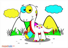 Tranh tô màu khủng long sinh động nhất cho bé