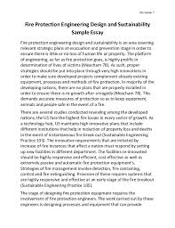 fire protection engineering design and sustainability sur 1 fire protection engineering design and sustainability sample essay fire protection engineering design and sustai