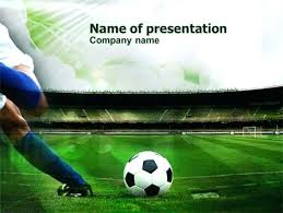 soccer field templates football field powerpoint template free soccer ball on green grass