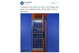 Bud Light Vending Machine Impressive Trouble Brewing Bud Light's Cleveland Browns Promo Draws Boos