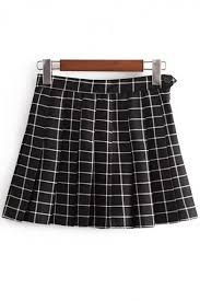 Pleated Skirt Pattern Inspiration Old School Fashion Plaids Pattern Zip Side Mini Pleated Skirt