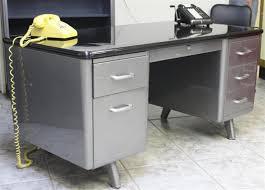 allsteel equipment arch leg tanker desk vintage ase desk brushed steel tanker desk