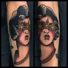 Dea Bendata Tattoo Traditional By Dap At Skingdom Tattoo Flickr