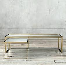 nesting coffee table regarding restoration hardware tables design marble nicholas