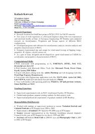 Student Resume No Work Experience Filename Cv Samples For