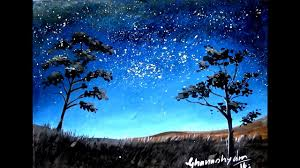 how to paint a night sky painting with watercolor paint with david