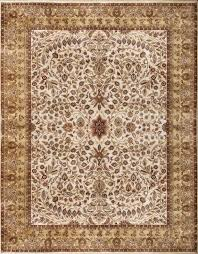 rugsville luxurious fl creeper persian style ivory beige wool rug 270 x 370 cm