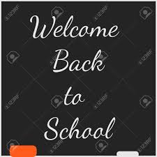 School Chalkboard Background Welcome Back To School Chalkboard Background Vector Illustration