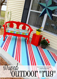 striped outdoor rug
