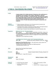 Resume For Nurses Template Rn Templates A Of Your 16 Nurse Printable
