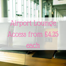 airport lounge access from 4 25 each