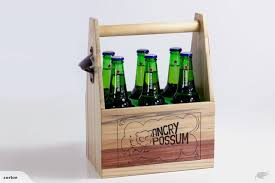 beer caddy 6 pack wooden beer bottle holder with bottle opener trade me