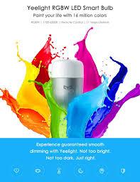 оригинальный Xiaomi Yeelight Rgbw E27 9w 600 Lumens Smart Led Light подключение Wifi смартфон пульт