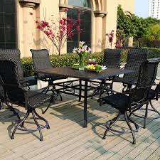 high dining outdoor tables. wrought iron bistro chairs | high top patio set bar height dining outdoor tables o