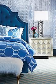 details about jonathan adler southampton duvet cover bedding full queen nwt 275 blue